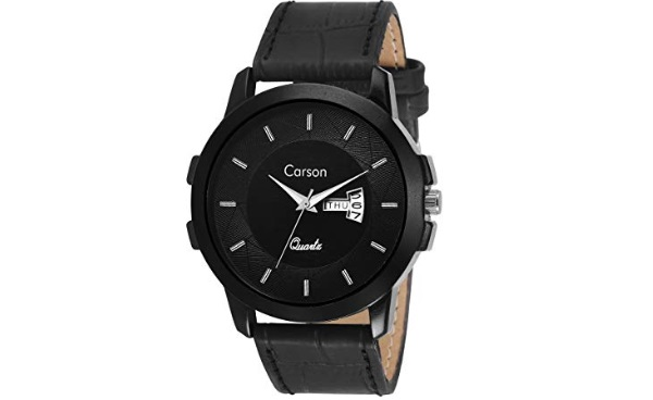 Carson Analogue Black Dial Men's Watch