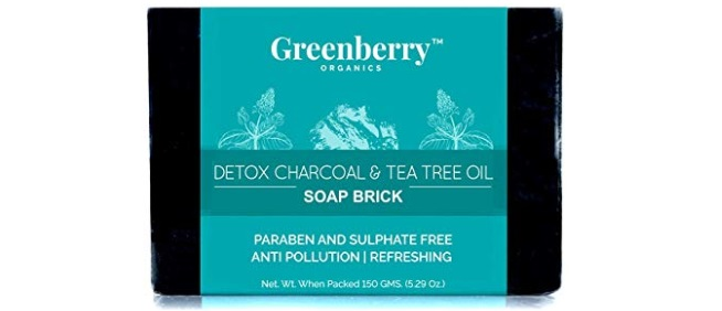 Greenberry Organics Detox Charcoal and Tea Tree Oil Soap