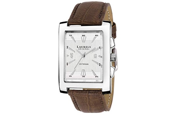 Laurels Imperial 2 Analog Silver Dial Men's Watch
