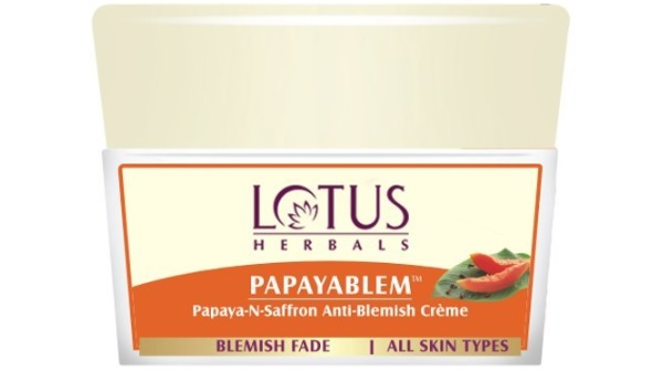 Lotus Herbals Papayablem Papaya-n-Saffron Anti Blemish Cream
