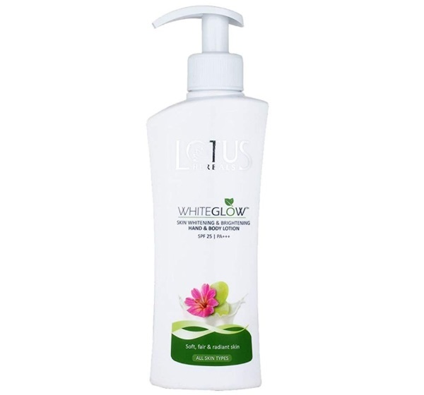 Lotus Herbals White Glow Skin Whitening and Brightening SPF-25 Hand and Body Lotion