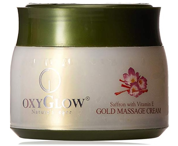 Oxyglow Saffron and Gold Vitamin E Massage Cream