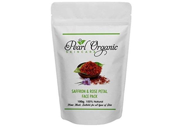 Pearl Organic Skincare Saffron Rose Petal Face Pack