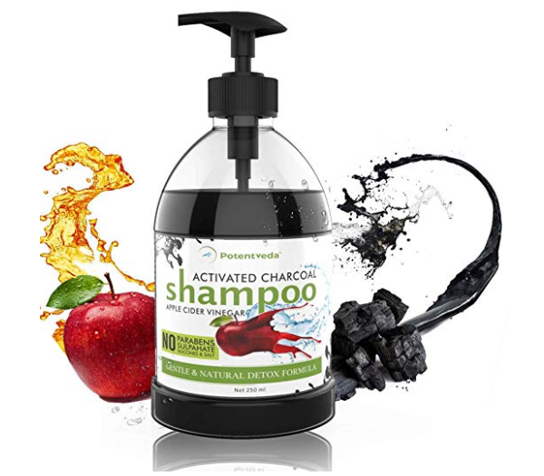 Potentveda Apple cider vinegar with Activated charcoal Shampoo