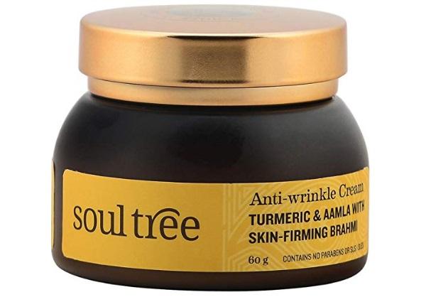 SOULTREE Anti-Wrinkle Cream With Turmeric, Aamla and Brahmi
