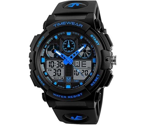 Timewear Analogue-Digital Black Dial Men's Watch