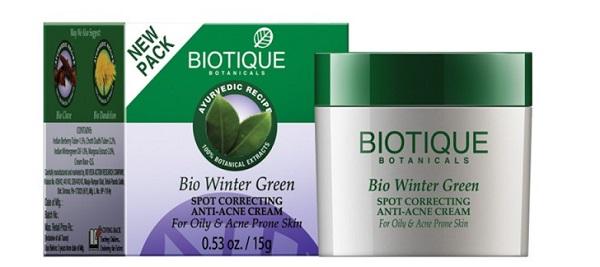 Biotique Bio Winter Green Spot Correcting Anti Acne Cream for Oily & Acne Prone Skin