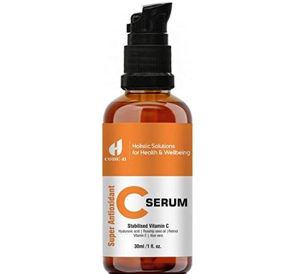 Code H Vitamin C Serum with Retinol, Hyaluronic Acid, Rosehip Seed Oil and Pure Aloe Vera