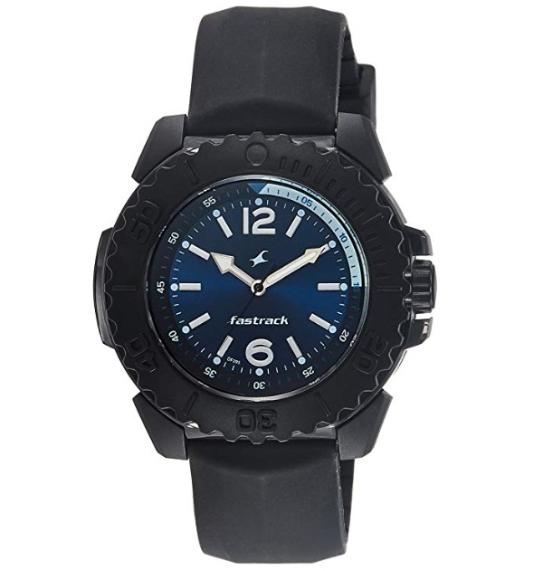 Fastrack Analog Blue Dial Chunky Men's Watch