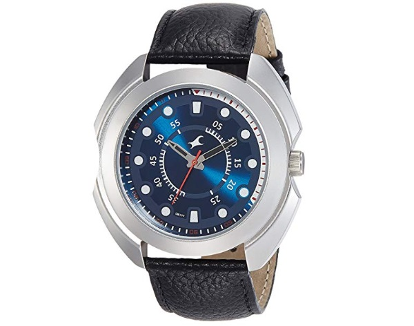 Fastrack Analog Blue Dial with Black Strap Men's Watch