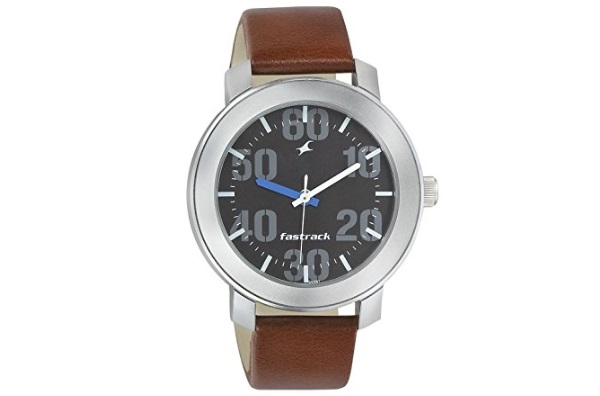 Fastrack Casual Analog Black Dial Brown Band Men's Watch