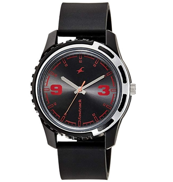 Fastrack Casual Analog Black and Red Dial Men's Watch