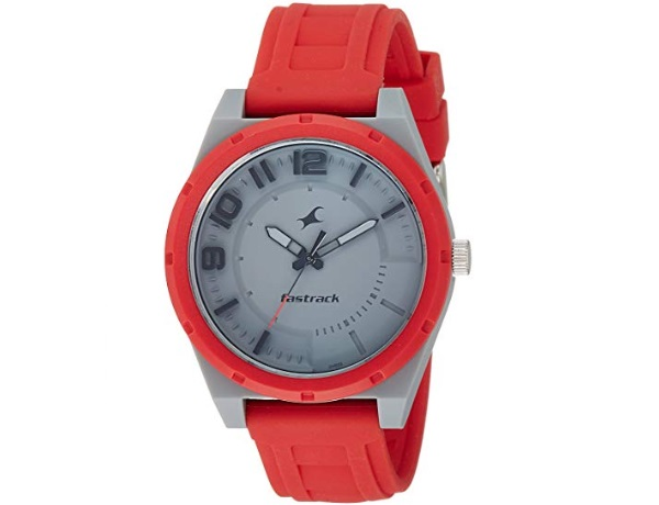 Fastrack Trendies Analog Grey Dial with Red Band Men's Watch