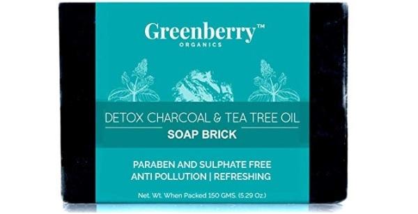 Greenberry Organics Detox Charcoal and Tea Tree Oil Soap