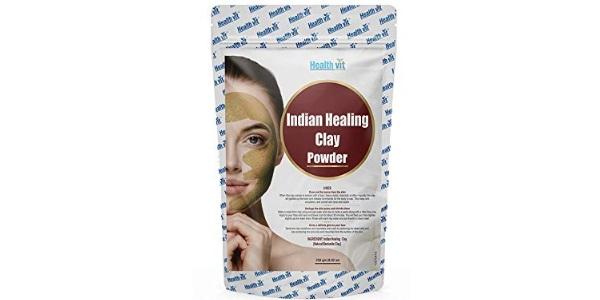 Healthvit Indian Healing Clay Bentonite Clay with Papaya Powder