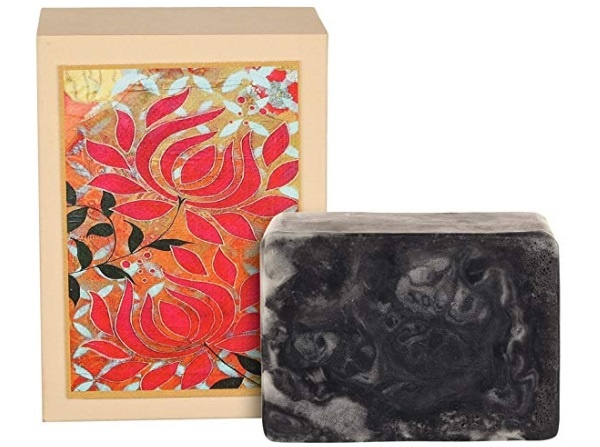 Just A Soap, Handmade Charcoal and Lime Soap with Goat Milk