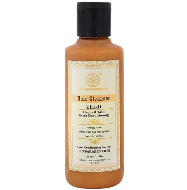 Khadi Natural Herbal Heena Tulsi Extra Conditioning Shampoo