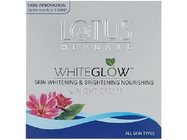 Lotus Herbals White Glow Skin Whitening and Brightening Nourishing Night Creme