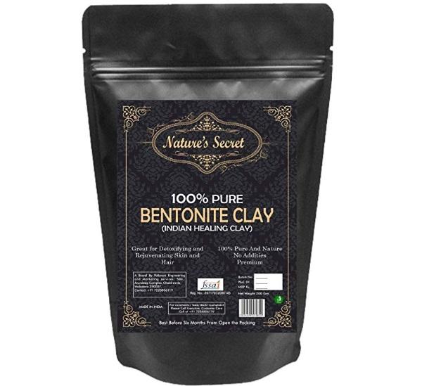 Nature's Secret Bentonite Clay Powder Organic For Clay Mask Detox