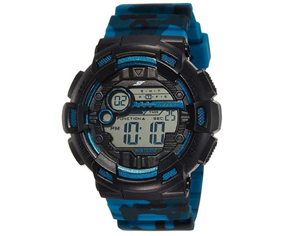 Sonata Digital Black Dial Men's Watch