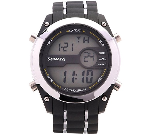 Sonata Superfibre Digital Grey Dial Men's Watch