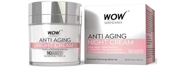 WOW Anti Aging No Parabens and Mineral Oil Night Cream