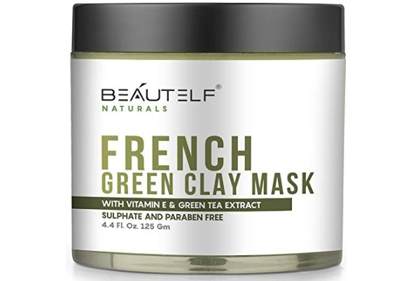Beautelf Vitamin E 4.4 Fl Oz French Green Clay Mask