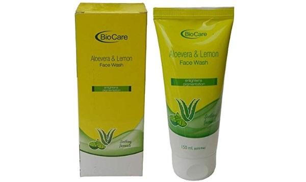Bio Care Aloe Vera and Lemon Face Wash For Pigmentation