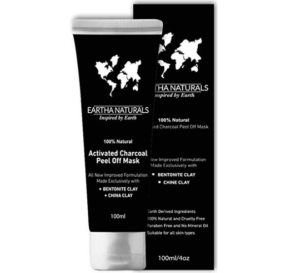 Eartha Naturals Activated Charcoal Peel Off Face Mask