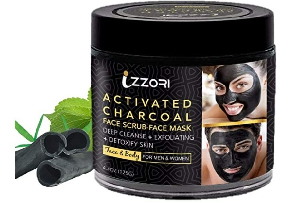 IZZORI Activated Charcoal 2 in 1 Face Scrub