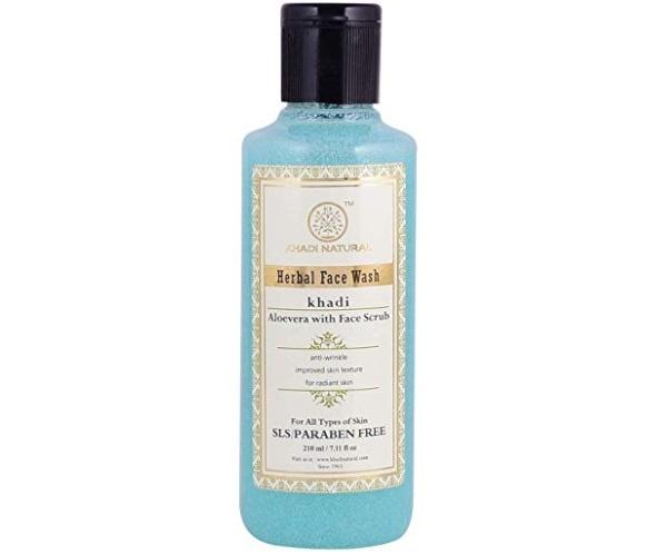 Khadi Natural Aloevera with Scrub Herbal Face Wash
