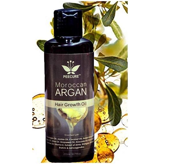 Peecure Moroccan Argan Hair Fall Treatment Growth Oil
