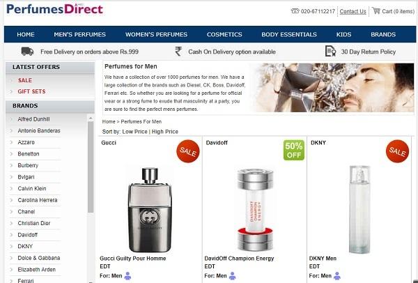 perfumes direct
