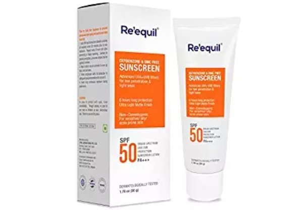 RE'EQUIL Sunscreen with SPF 50PA+++for Oily, Sensitive and Acne Prone Skin