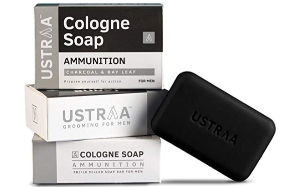 Ustraa Ammunition Cologne Soap with Charcoal & Bay Leaf