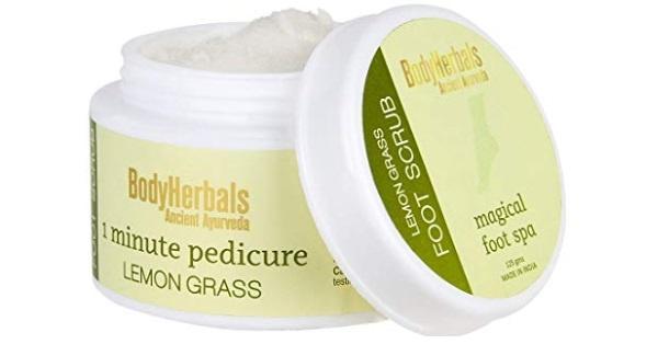 BodyHerbals 1 Minute Pedicure Lemongrass Foot Scrub