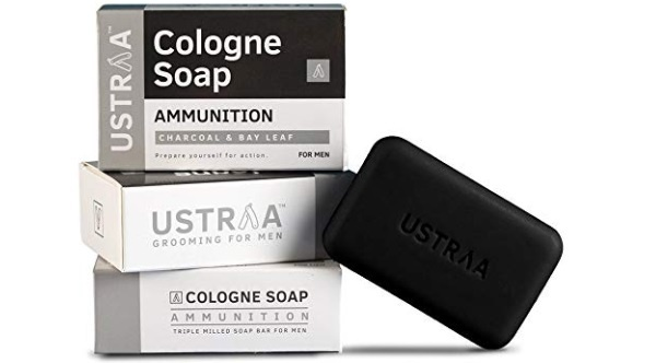 Ustraa Ammunition Cologne Soap With Charcoal And Bay Leaf