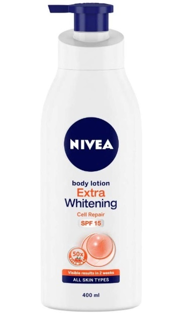 NIVEA Extra Whitening Cell Repair Body Lotion (SPF 15)