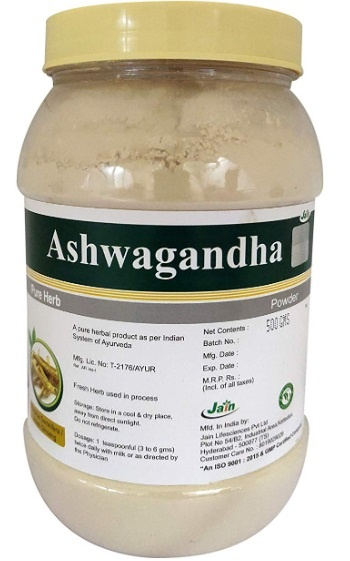 Jain Ashwagandha (Withania somnifera) Powder