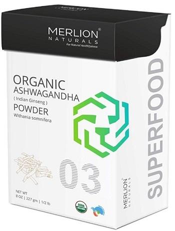 Merlion Naturals Organic Ashwagandha Root Powder